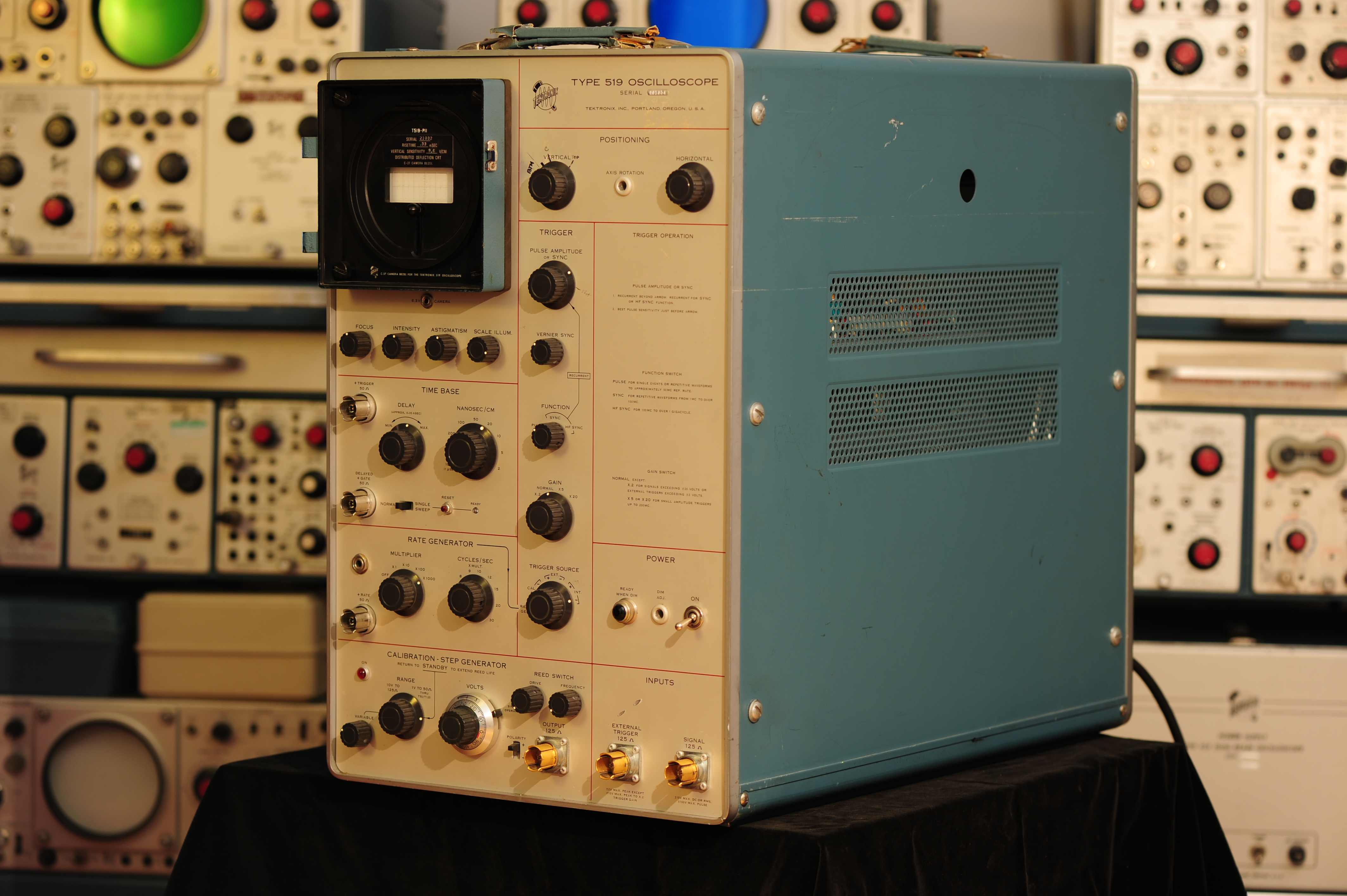 Timothy Koeth The Tek 519 Oscilloscope Control Pannel Twk 6541